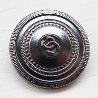 918-2 CHANEL(ヴィンテージ シャネル)COCOマーク デザイン ボタン ブラック