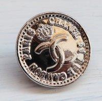 921-1 CHANEL(ヴィンテージ シャネル)COCOマーク 王冠デザイン ボタン シルバー