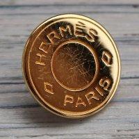 922 HERMES(ヴィンテージ エルメス) セリエ マーク ボタン ゴールド