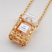 CHANEL vintage (シャネル ヴィンテージ)PERFUME BOTTLE NECKLESS 香水瓶 チェーン ネックレス NO.5
