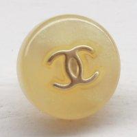 926-2 CHANEL(ヴィンテージ シャネル)COCOマーク デザイン ボタン ゴールド