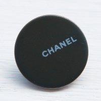 927 CHANEL(ヴィンテージ シャネル)ロゴ スナップボタン シルバー