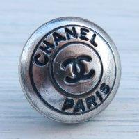 934 CHANEL(ヴィンテージ シャネル)COCOマーク ボタン シルバー
