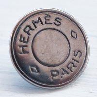 943 HERMES(ヴィンテージ エルメス) セリエ マーク ボタン シルバー
