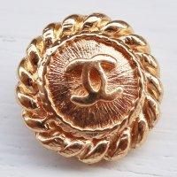 953-2 CHANEL(ヴィンテージ シャネル)COCOマーク ボタン ゴールド