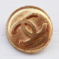 955 CHANEL(ヴィンテージ シャネル)COCOマーク ボタン ゴールド