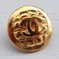 957-1 CHANEL(ヴィンテージ シャネル)COCOマーク ボタン ゴールド