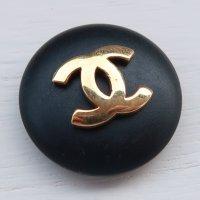962 CHANEL(ヴィンテージ シャネル)COCOマーク ボタン ブラック