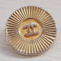 963 CHANEL(ヴィンテージ シャネル)COCOマーク ボタン ゴールド