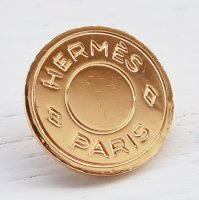 967 HERMES(ヴィンテージ エルメス) セリエ マーク ボタン ゴールド