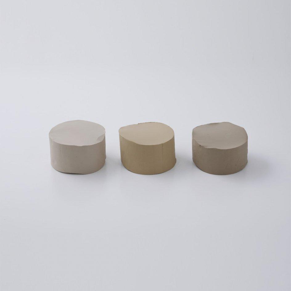 磁器土トライアルパック【磁器土・透光性磁器土・花坂水簸粘土(並)】