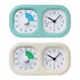 トキ・サポ時っ感タイマー時計プラス ミントブルー/アイボリー