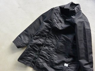 SASSAFRAS ササフラス / Fall Leaf Coat + nylon twill black