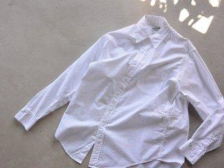 SASSAFRAS ササフラス / Wheel Barrow Shirt oxford white