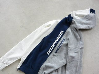 MOUNTAIN RESEARCH マウンテンリサーチ / 4 Zip Parka wht/nvy/gry