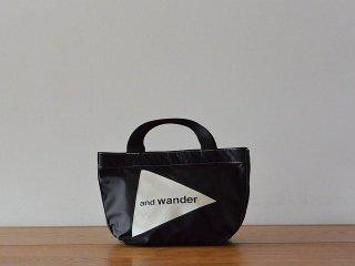 and wander アンド ワンダー / logo tote bag small CORDURA black