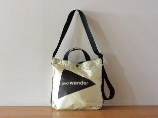 and wander アンド ワンダー / logo tote bag medium CORDURA white