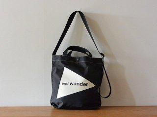 and wander アンド ワンダー / logo tote bag medium CORDURA black