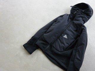 and wander アンド ワンダー / top fleece jacket black