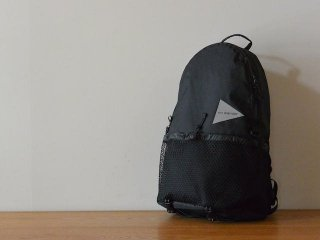 and wander アンド ワンダー / X-Pac 20L daypack black
