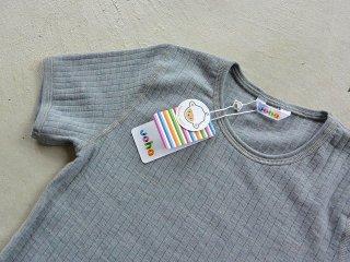 JOHA ヨハ / メリノウール キッズ Tシャツ grey
