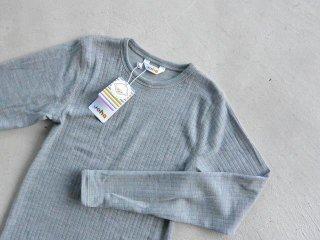 JOHA ヨハ / メリノウール キッズ ロングスリーブ grey 150cm