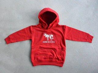 COWBOOKS カウブックス / KIDS hoodie red