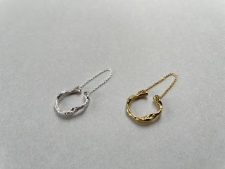 Soierie ソワリー / Aging chain cuff ring (1P)