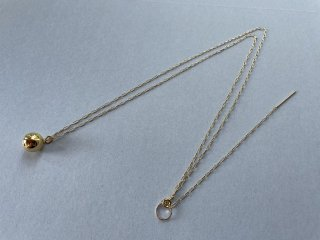 Soierie ソワリー / Cosmic ball necklace GOLD