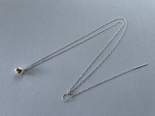 Soierie ソワリー / Cosmic ball necklace SILVER
