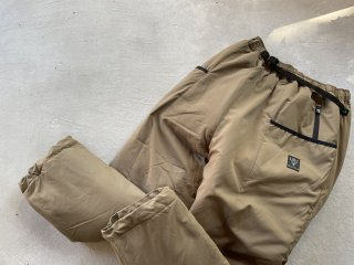 SOUTH2 WEST8 / Insulator Belted Pant - Poly Peach Skin tan
