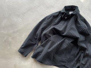 LOLOLIKE ロロ ライク / プルオーバー ビッグシャツ ブラックストライプ