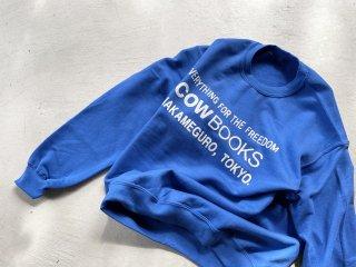 COWBOOKS カウブックス / Book Vendor Sweatshirt blue×white