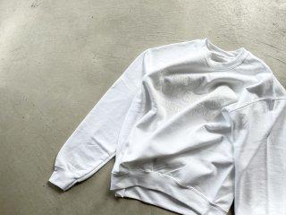 COWBOOKS カウブックス / Book Vendor Sweatshirt white×white