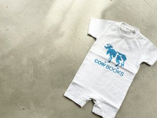 COWBOOKS カウブックス / Kids Rompers white × blue