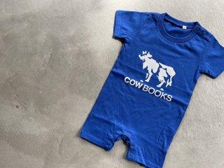 COWBOOKS カウブックス / Kids Rompers blue × white