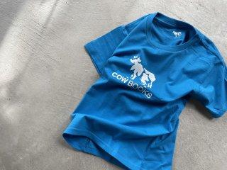 COWBOOKS カウブックス / KIDS T-shirts blue × white