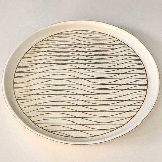 金彩幾何文丸皿