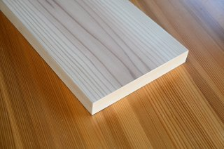 桧板目 長さ601〜900mmツキ板化粧梁棚板(無塗装)