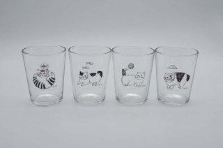 タンブラー|Glass tumbler S Cat 松尾ミユキ Cat&Fish