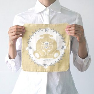 福田利之さんイラスト ハンドタオル くまとこぐま