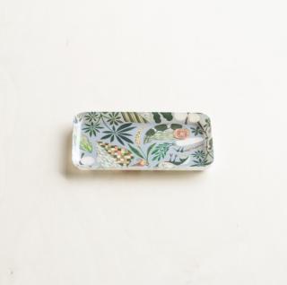 福田利之さんイラスト タブローシリーズ ファブリックトレイ(S) 菜化 ブルーグレー