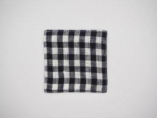 fog linen work リネンコースター(ネイビーホワイトチェック)