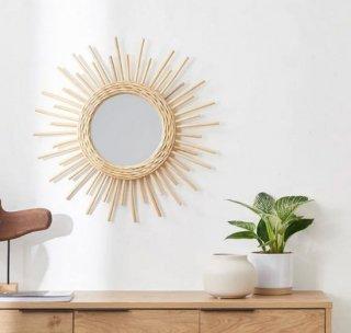 [幅60] ミラー 壁掛け 円型 太陽型