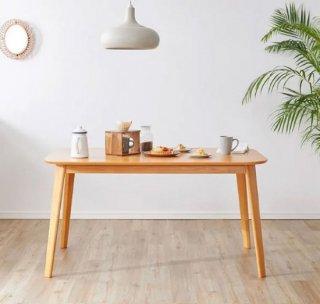 [幅135] ダイニングテーブル 単品 角丸加工 木目調