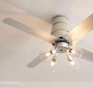 [4灯] シーリングファンライト LED対応 リモコン付き